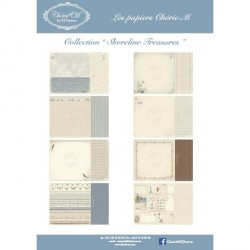 "Set de 8 Feuilles ""Shoreline Treasures"""