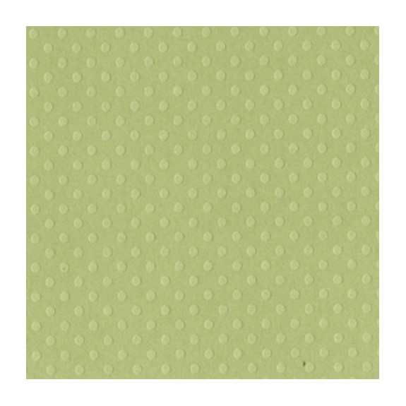 Papier scrap pois relief Celtic Green