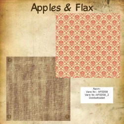 "Papier scrap ""Apples & Flax"" écritures"
