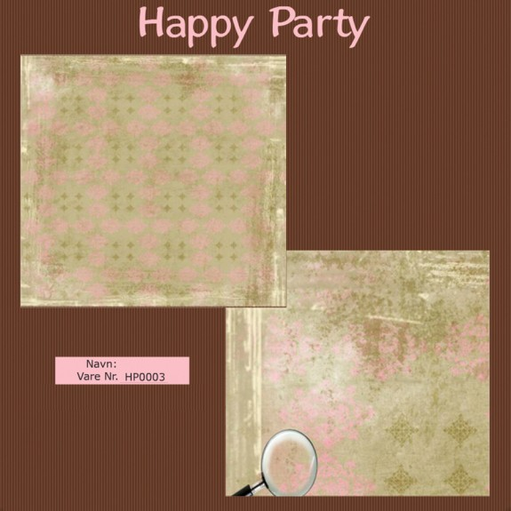 "Papier scrap ""Happy Party"" Fancy"
