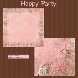 "Papier scrap ""Happy Party"" Pinky"