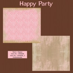 "Papier scrap ""Happy Party"" Happy"