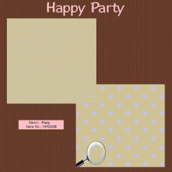 "Papier scrap ""Happy Party"" Flurry"