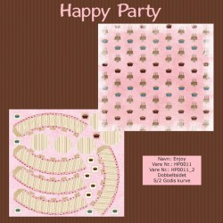 "Papier scrap ""Happy Party"" Enjoy"