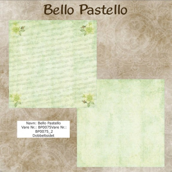 "Papier scrap ""Bello Pastello"" 75"