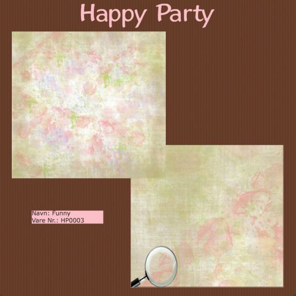 "Papier scrap ""Happy Party"" Funny"