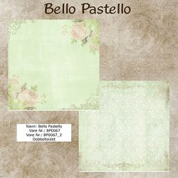 "Set de 8 Feuilles ""Bello Pastello"""