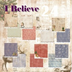 "Set de 7 Feuilles ""I Believe"""